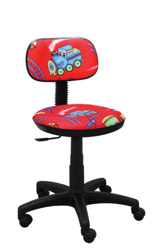 Krzesło biurowe Junior train czerwony
