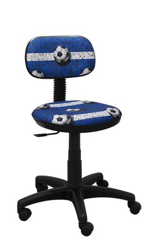 Krzesło obrotowe Junior futbol niebieski