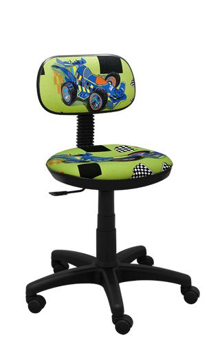 Krzesło dla dzieci obrotowe Junior turbo zielony